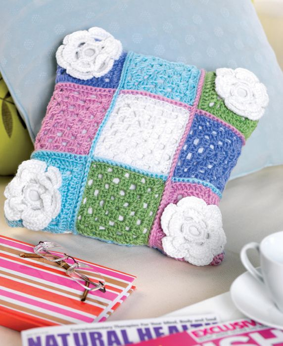 Floral Granny Square Cushion (DOWNLOAD PATTERN)
