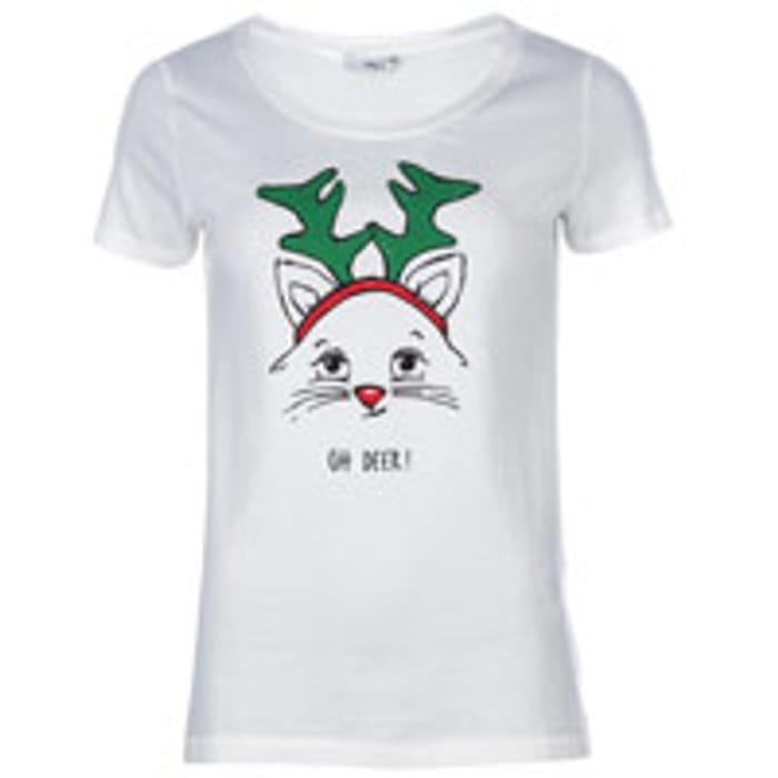 Womens Only Oh Deer T-Shirt in Cloud Dancer.