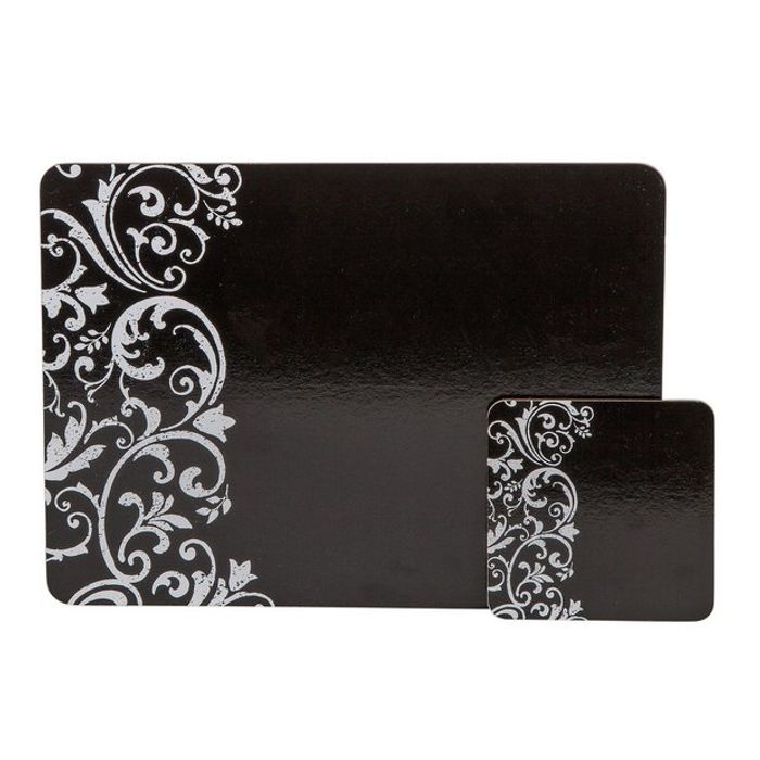Argos Home Damask Set of 4 Placemats and Coasters