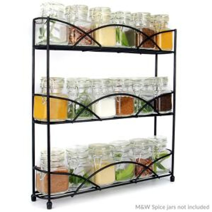 3 Tier Herb & Spice Rack | M&W Black New Reduced from £8.99 to £6.99!