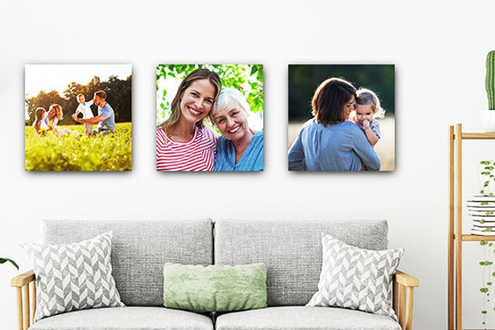 "Set of 3 Personalised 12"" X 12"" Canvases"