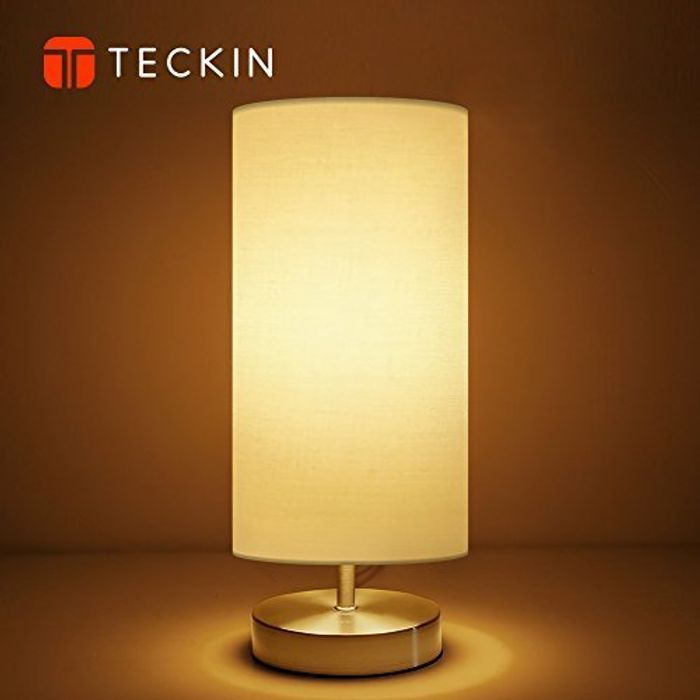 TECKIN Bedside Table Lamp (LED Bulb Included) [Energy Class A++]