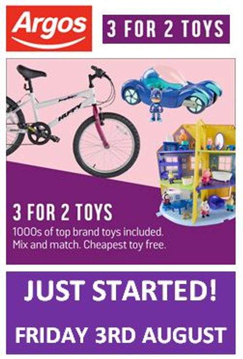 IT'S STARTED! ARGOS TOY SALE - 3 for 2 - CHEAPEST FREE!