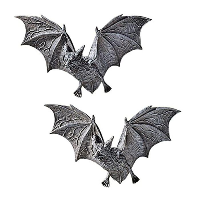 Vampire Bats of Castle Barbarosa Wall Sculptures - Set of 2