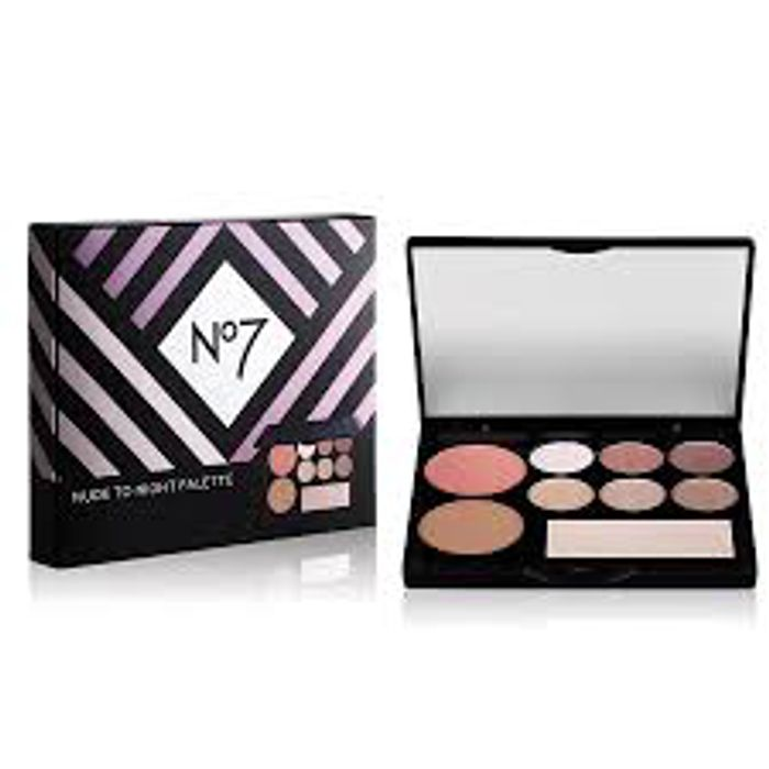 Free No 7 Nude to Night Palette with 2 Selected No7 make up