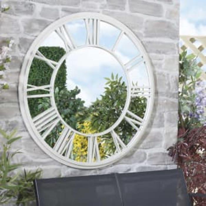 Clock Mirror for Garden