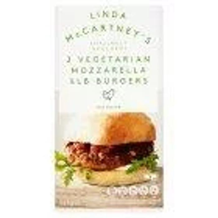 Linda McCartney Mozzarella Burger X2 227g