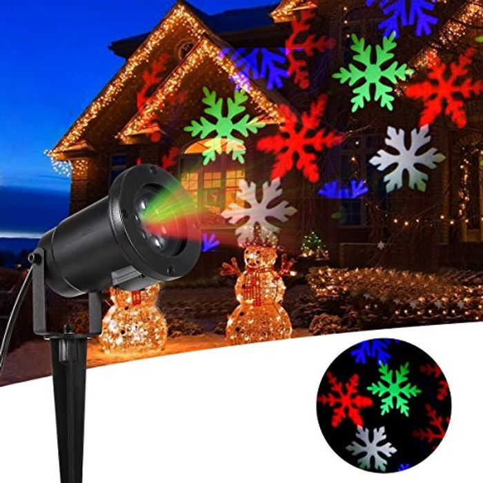 Christmas Projector Light Colorful LED Snowflakes