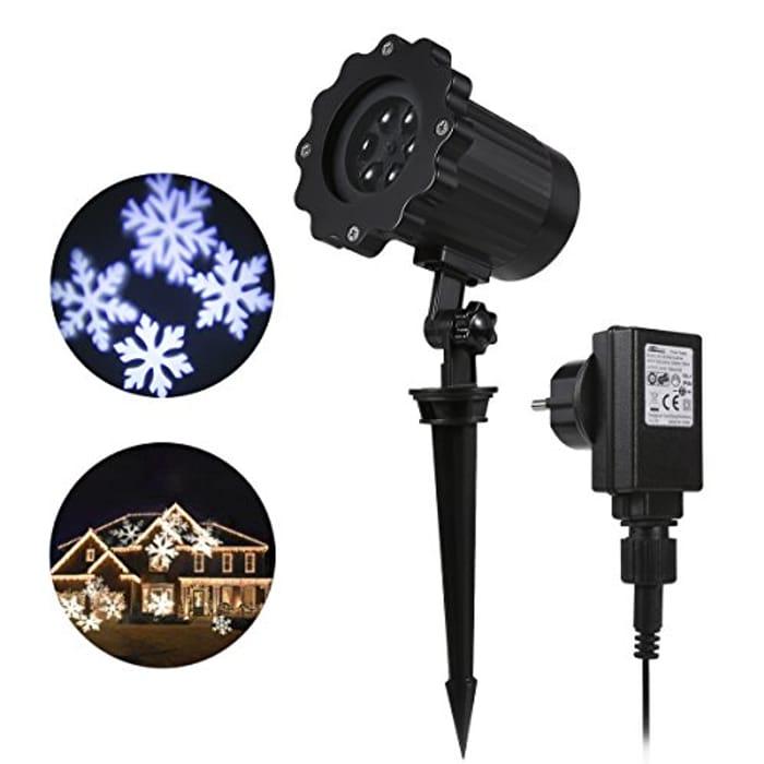 Christmas Light Snowflake Projector