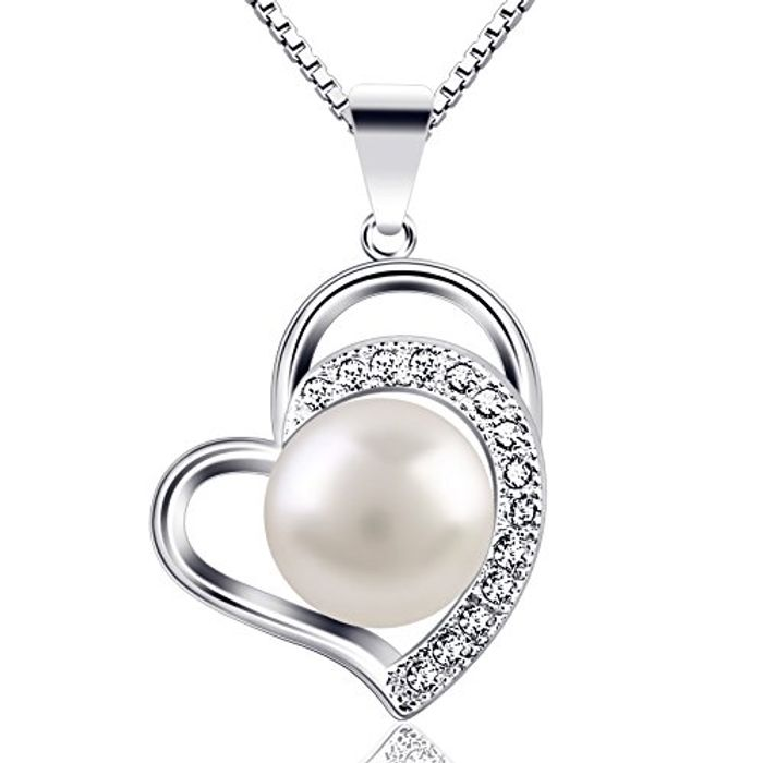 """Pearl Necklace for Women """"Only Love You"""" 925 Sterling Silver Pearl Necklaces"""