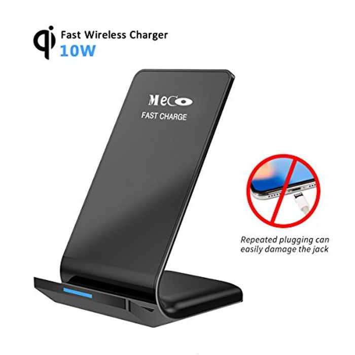 Qi Wireless Fast Charger Stand Samsung S6 S7 S8 Apple X All Qi Enabled