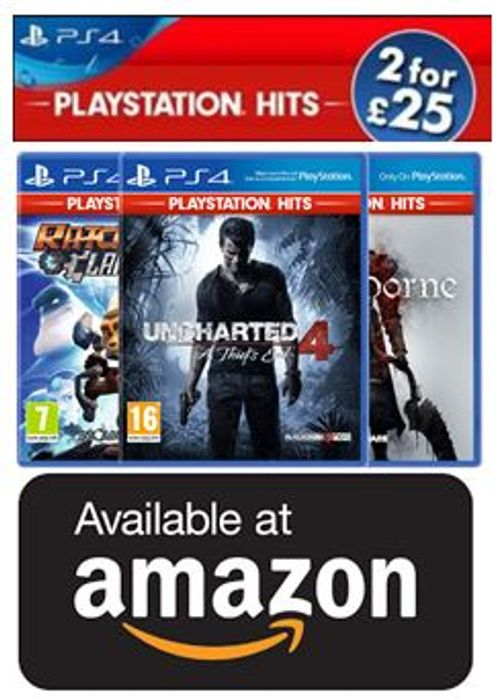 Playstation Hits - 2 for £25 at Amazon (Until 28th August)