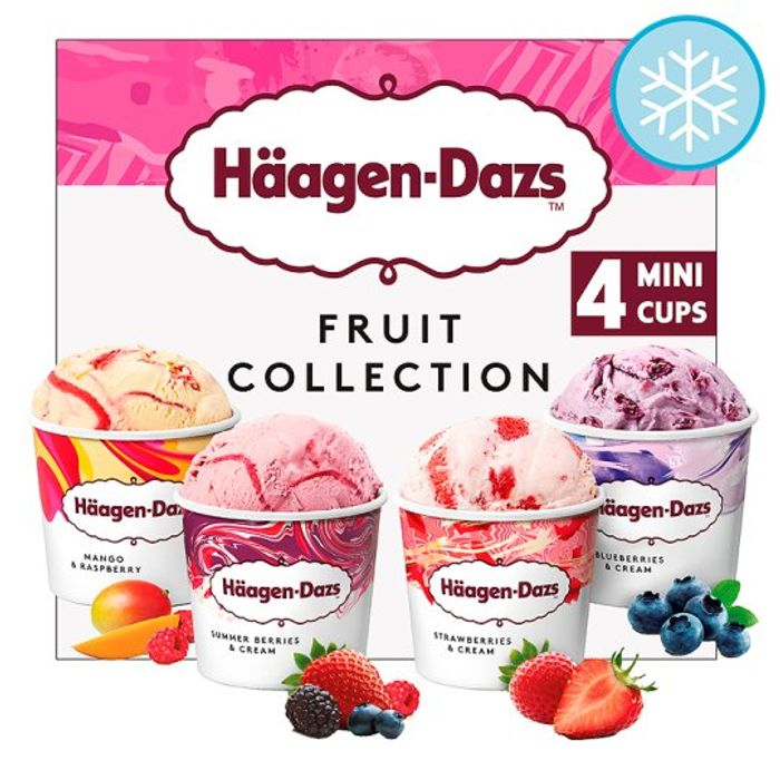 Haagen Dazs Fruit Ice Cream Collection Minicups 4X100ml CHOICE of 6