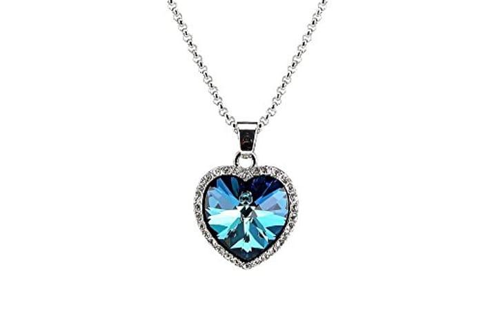 Titanic Heart of the Ocean Crystal Pendant