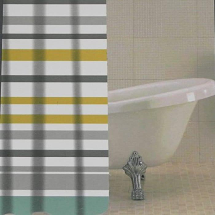 Ocean Stripe PEVA Shower Curtain
