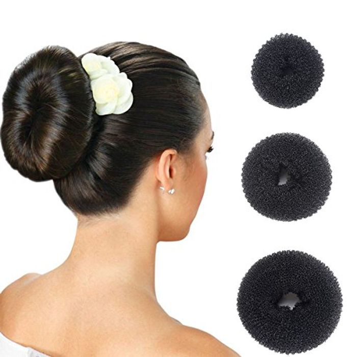 Pack of 3 Hair Donut Bun Makers