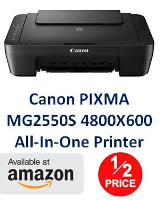 HALF PRICE AMAZON PRIME DEAL - Canon PIXMA MG2550S All-in-One Printer