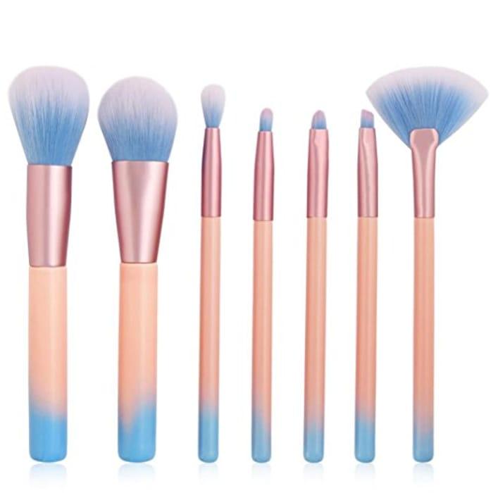 MML 7Pc Makeup Brushes Set Eyeliner Lip Cosmetic Brush (7Pcs, Pink) 99p P&P