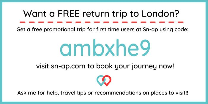 Free Return Coach Trip on Sn-Ap for New Users