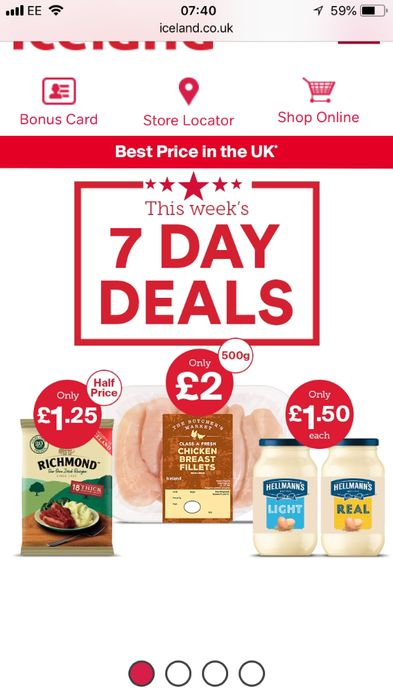 7 Day Deal Chicken Breast/ Richmond Sausage/ Hellmans Mayo