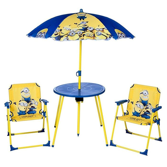 Minions Despicable Me Childrens Garden Furniture Set Age 3-8
