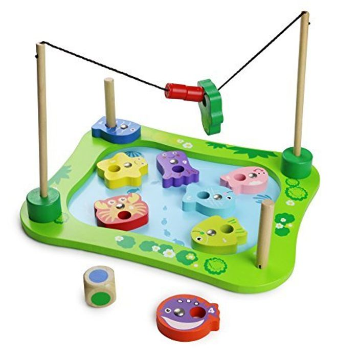 13 Pieces Magnetic Wooden Fishing Game