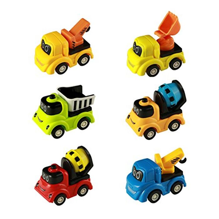 Toy Cars Mini Model Pull Back and Go Smile Cartoon Vehicles