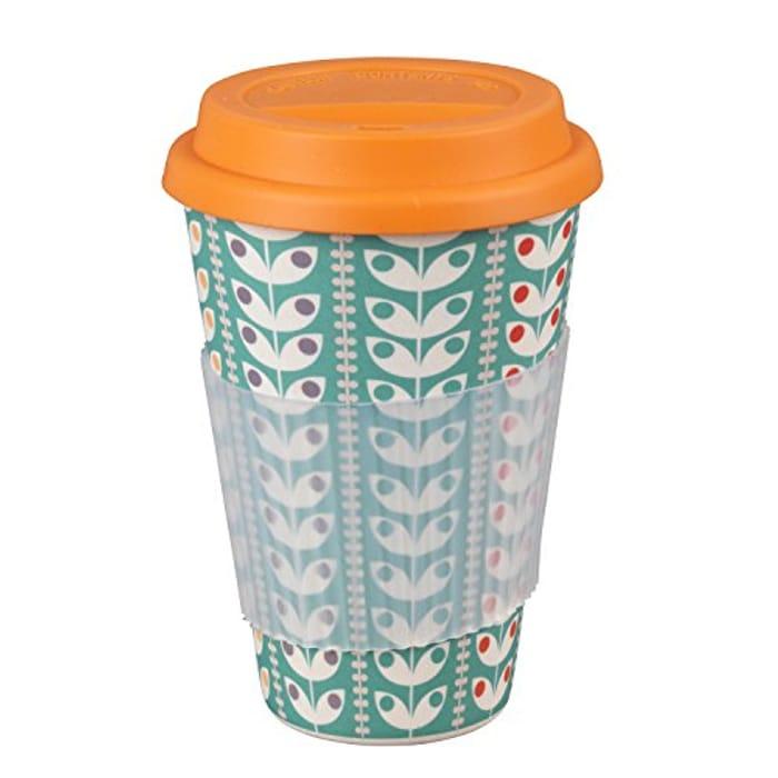 Retro Daisy Bamboo Eco Travel Mug
