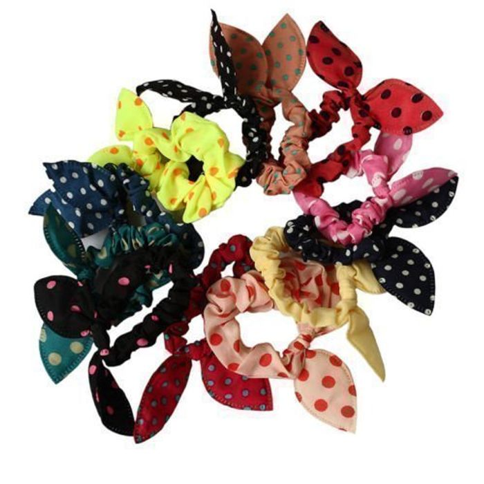 10pcs Women's Rabbit Ear Hair Tie Bands