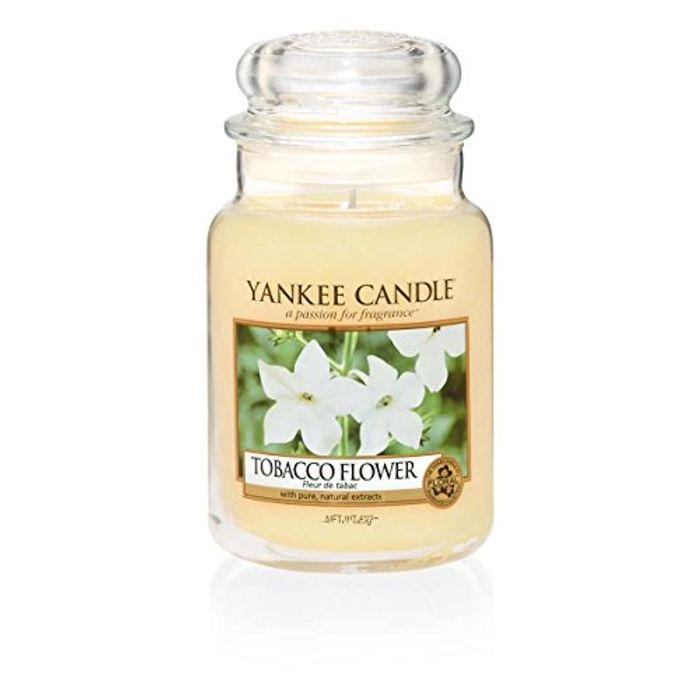 Yankee Candle Tobacco Flower Jar Candle,Large