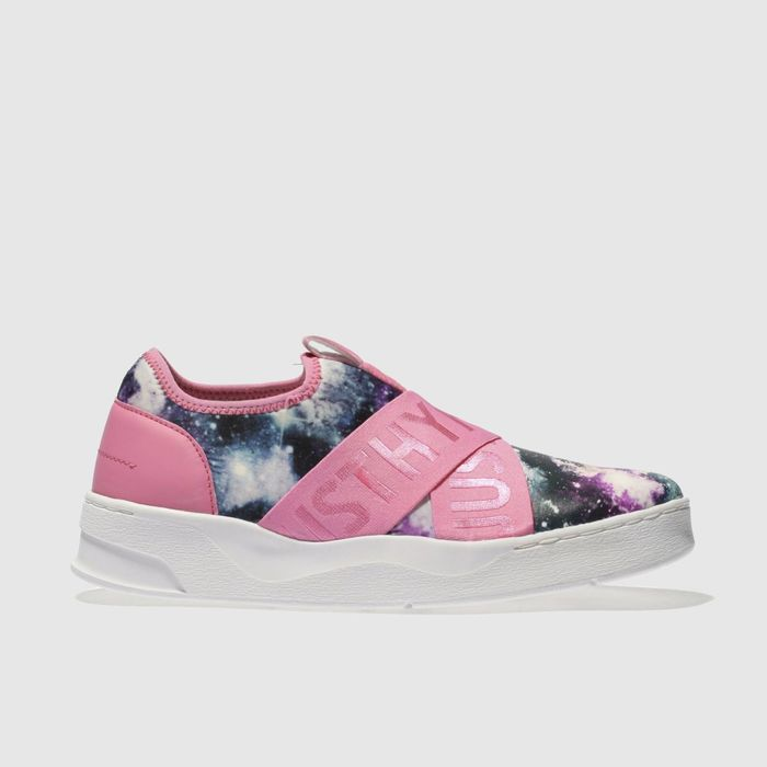 Hype Pale Pink Space Cup Trainers