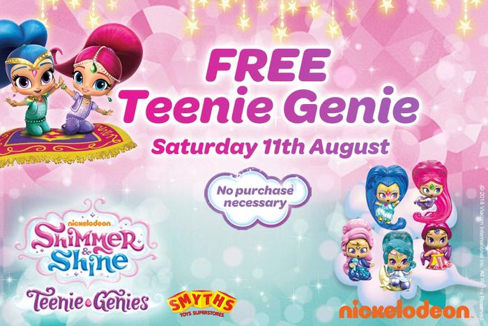 FREE Teenie Genie! on Saturday the 11th of August
