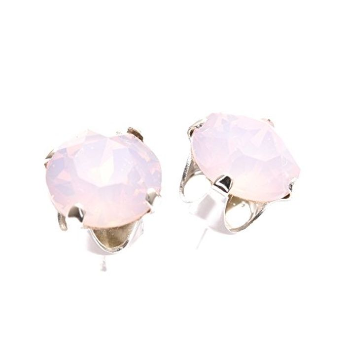 925 Sterling Silver Stud Earrings Rose Water Opal Crystal SWAROVSKI®.