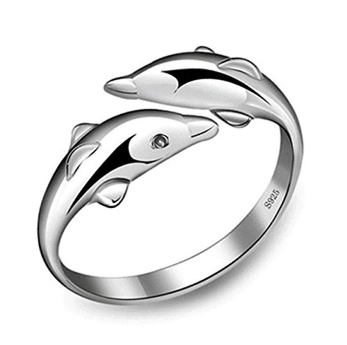 Cute Adjustable Dolphin Ring