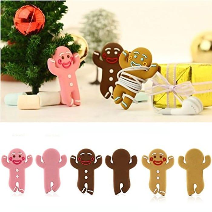 Gingerbread Man Headphone Winder Wrap Organizer