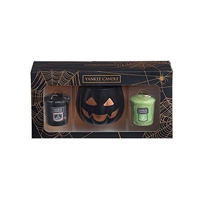 Yankee Candle Official Halloween Pumpkin Head Votive Holder Box Set