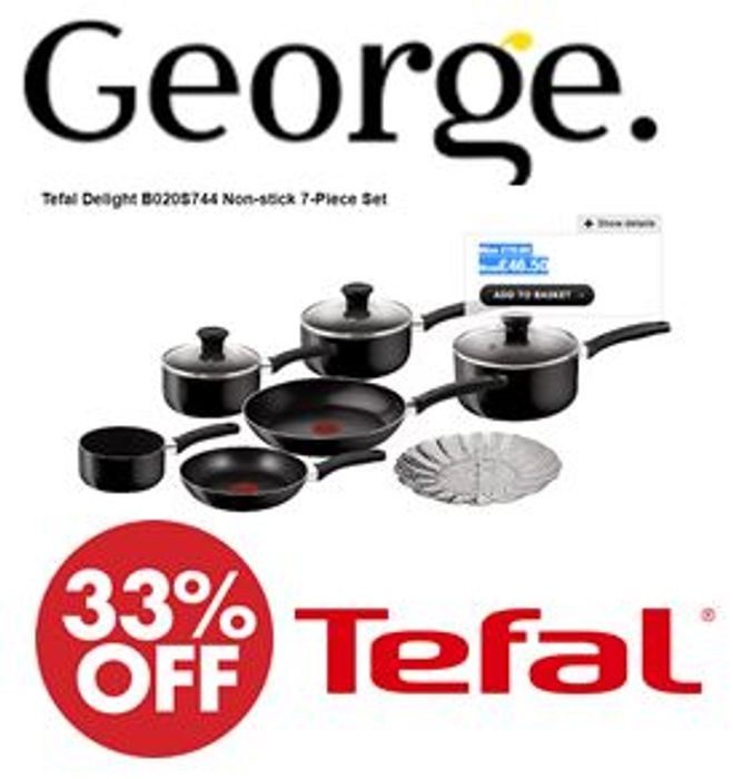 Tefal Delight B020S744 Non-Stick 7-Piece Set