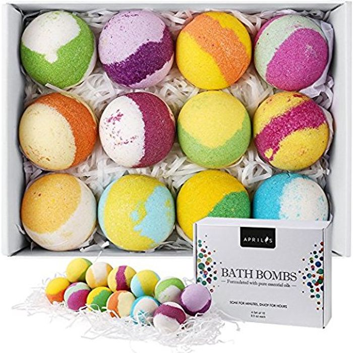 12 Bath Bombs Gift Set