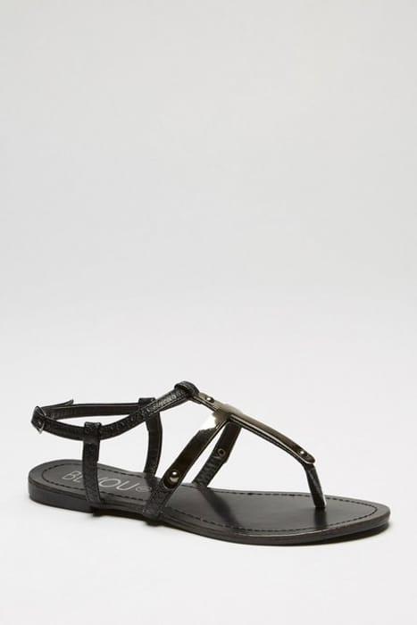 T-Bar Black Sandals
