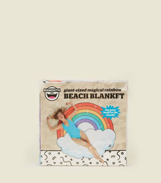 60% off to Multi Colour Rainbow and Cloud Beach Blanket