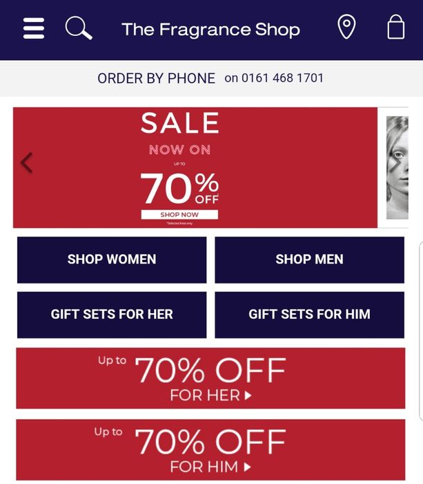 The FrangranceShop Summer Sale - up to 70% Off