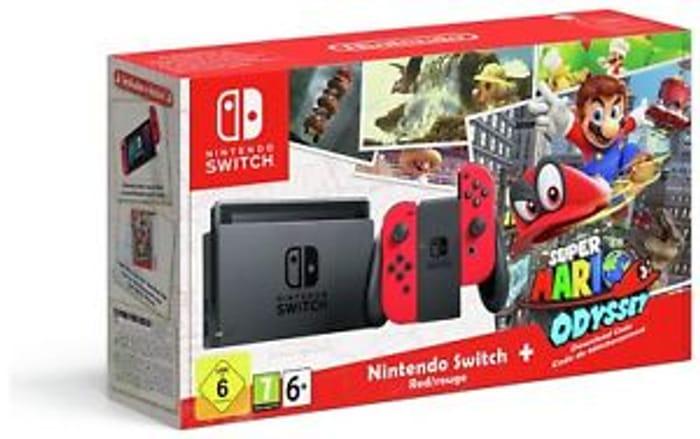 Nintendo Switch with Mario Odyssey.