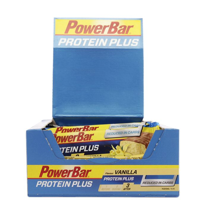 Powerbar ProteinPlus Low Carb Bar Vanilla 30 Bars