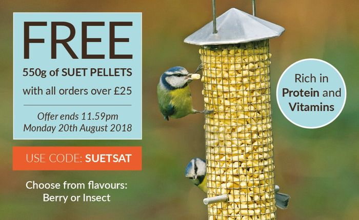 Free 550g of Suet Pellets with All Orders over £25