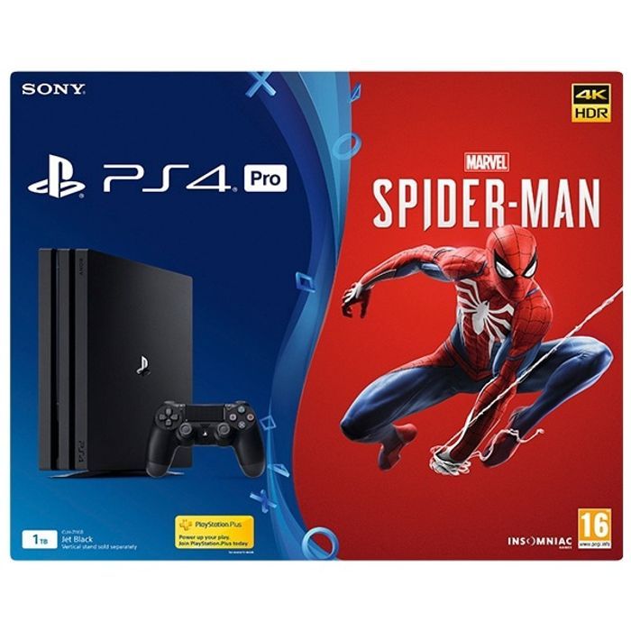 PS4 Pro 1TB Marvel's Spider-Man Bundle (Pre-Order Expected in Stock: 07 Sept)