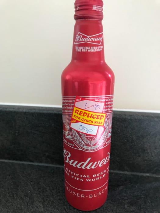 50p Budweiser Bottle
