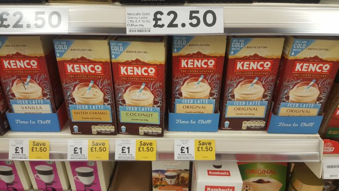 Kenco Instant Iced Lattes 1 At Tesco Latestdealscouk