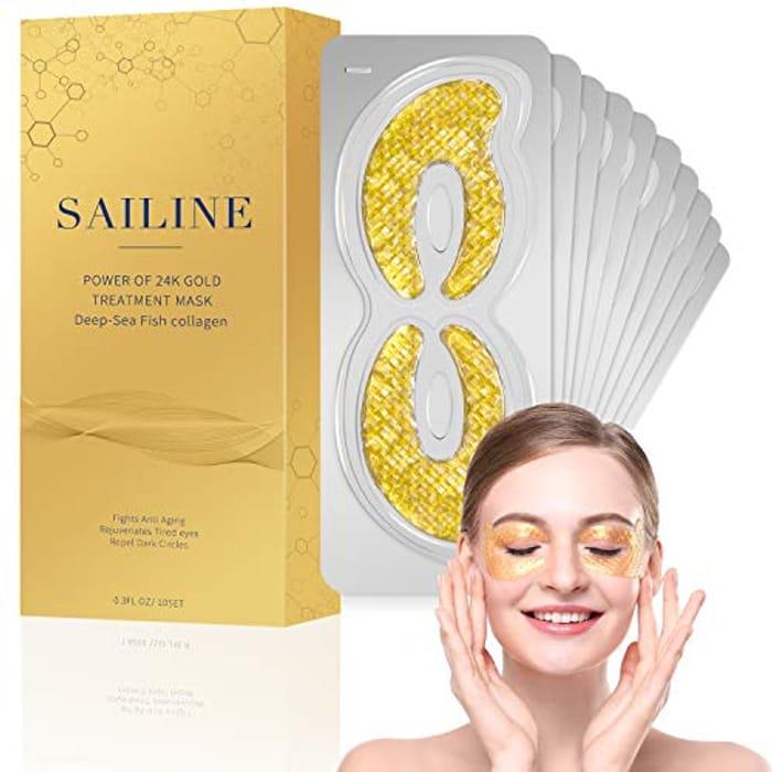 SAILINE 2018 New Deep Sea Fish Collagen 24K Gold Eye Mask