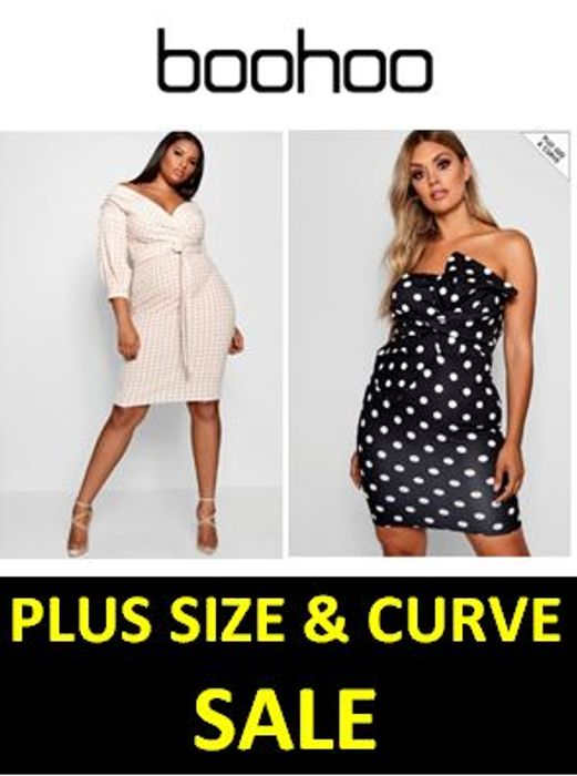 Up to 86% off! PLUS SIZE & CURVE Sale at BOOHOO. Prices from £3.