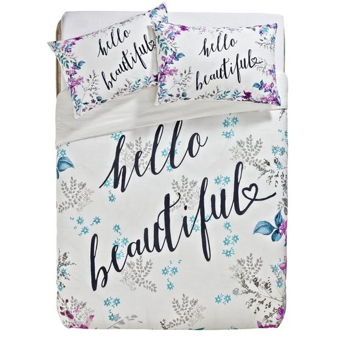 Argos Home Hello Beautiful Bedding Set - Double